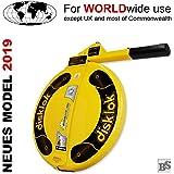Disklok S 390 Lenkradkralle + Airbagschutz Gelb für Lenkräder mit 35-38,5 cm ø (für Linkslenker EU ohne UK)