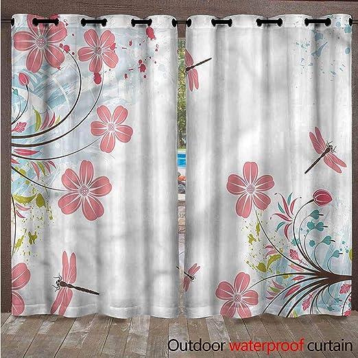 Paneles de cortina transparentes para exteriores – Elegantes cortinas repelentes al agua con arandelas para interior/exterior, cortinas de pérgola /persianas de cenador para privacidad de patio, juego de 2, Multi: Amazon.es: Jardín