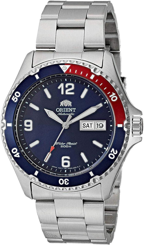Orient Reloj Analógico para Unisex Adultos de Automático con Correa en Acero Inoxidable FAA02009D9