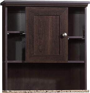 """Sauder Peppercorn Wall Cabinet, L: 23.31"""" x W: 7.56"""" x H: 24.57"""", Cinnamon Cherry"""