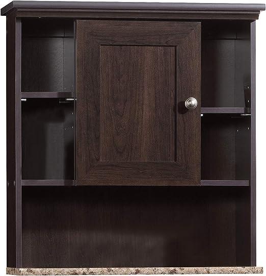 Sauder Peppercorn Wall Cabinet L 23 31 X W 7 56 X H 24 57 Cinnamon Cherry