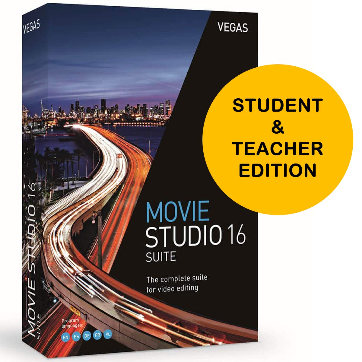 MAGIX VEGAS Movie Studio 16 Suite for Students and Teachers - Complete Video Editing Software by Magix-Genesis