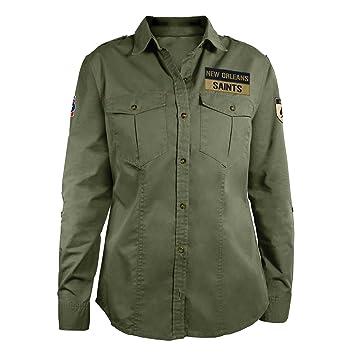 4efc76c48 Amazon.com   NFL New Orleans Saints Women s Military Field Shirt ...