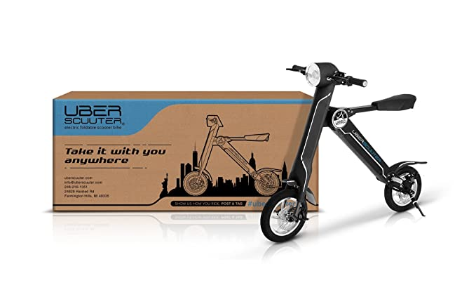Amazon.com: UBERSCUUTER The Uber Scuuter Plus - Bicicleta ...