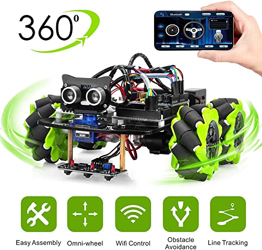 OSOYOO Mecanum Wheels Robot Car Kit for Arduino Mega2560|Omni ...