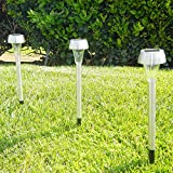 iGlow-15-Pack-Outdoor-Garden-Stainless-Steel-Warm-White-LED-Solar-Path-Landscape-Light-Lamp-Lawn-Yard-Patio-Driveway
