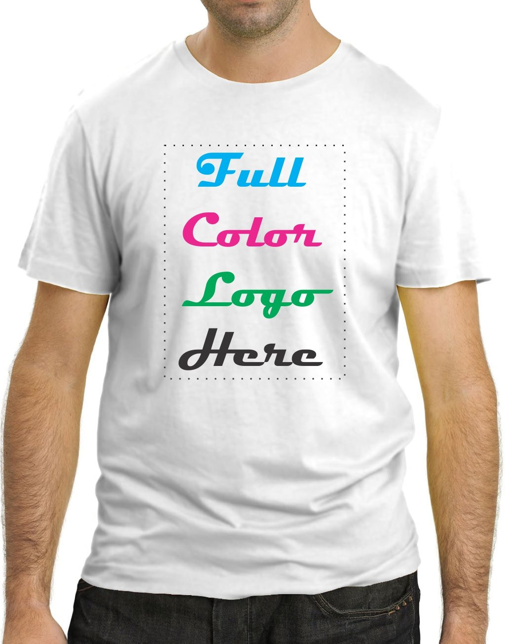 Amazon 50 Custom Printed T Shirt Full Color Logodesign Mix