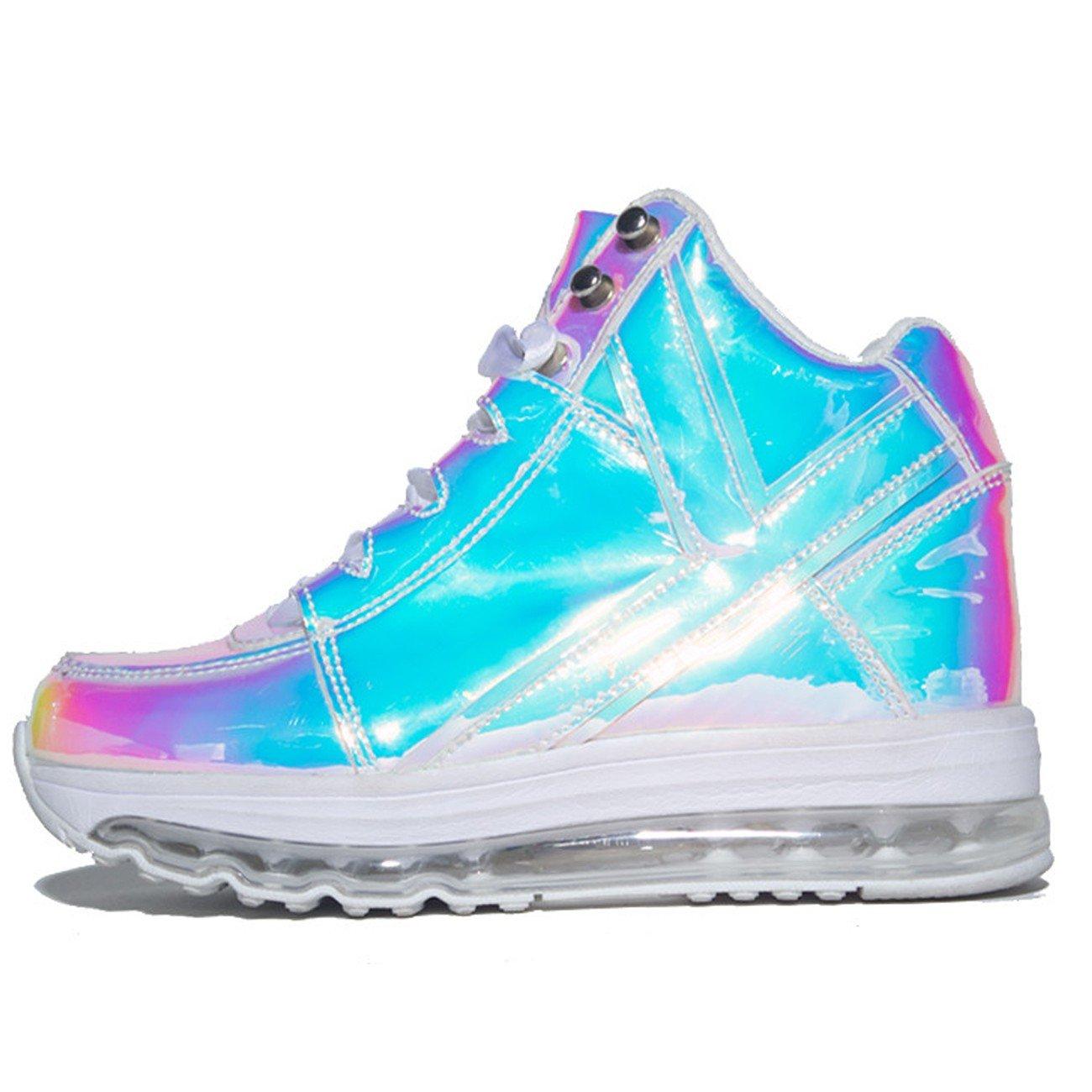 d049bda7e Amazon.com | YRU Aiire Atlantis, Hologram high top Sneaker | Fashion  Sneakers
