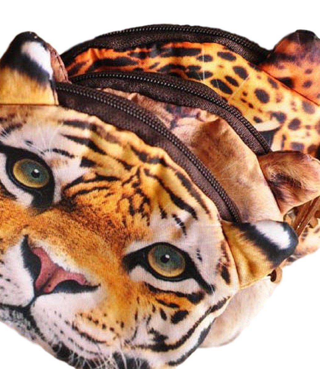 L/öwe Leopard, L/öwe, Tiger Rei/ßverschluss Weicher Geldbeutel // Aufbewahrungstasche // M/ünzb/örse mit coolem Gro/ßkatzenmotiv im Animal Print Design