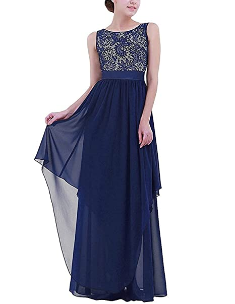 Vestidos de noche largos elegantes con encaje