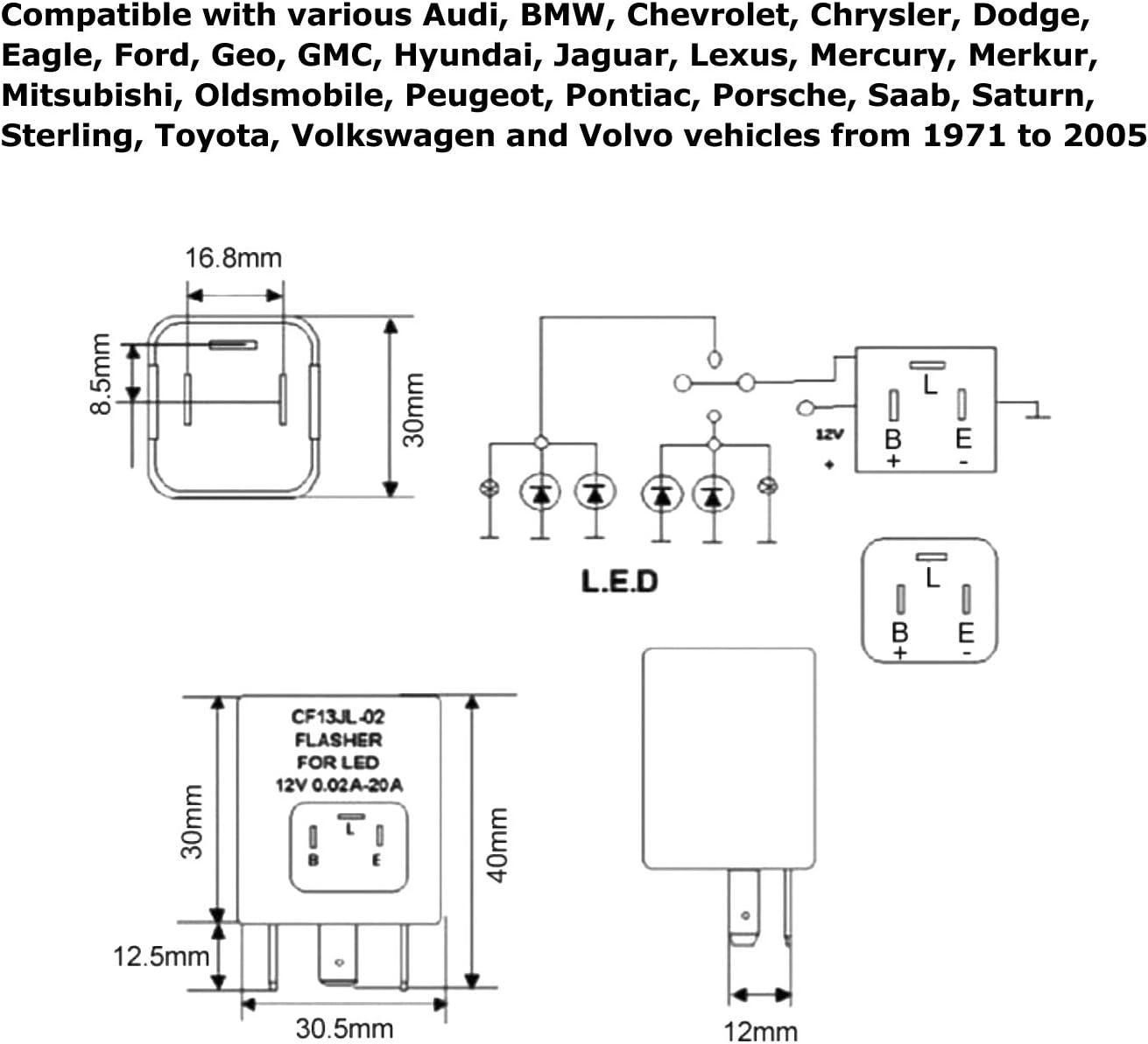 sterling truck turn signal wiring diagram amazon com ijdmtoy  1  3 pin cf 13 cf13 ep34 electronic flasher  cf13 ep34 electronic flasher