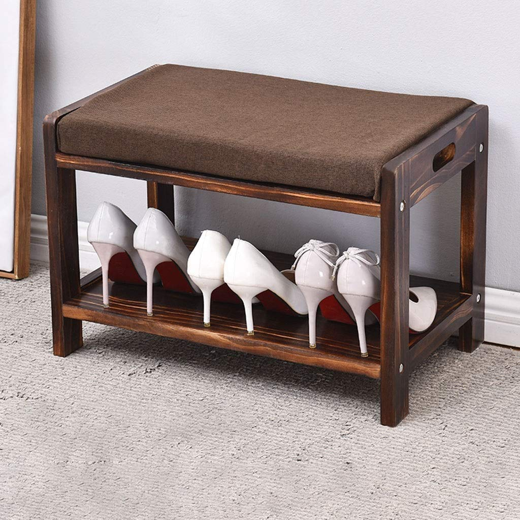 Amazon.com: ZHAOYONGLI - Taburete de madera para zapatos ...