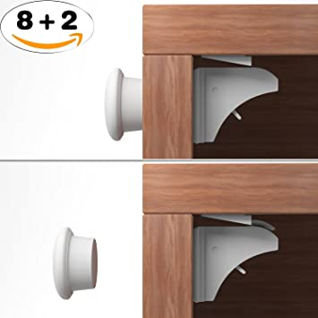 Unsichtbarer Kindersicherheit Sicherheitsschloss 8 Magnet ...