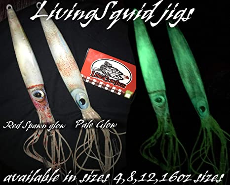 NEW bluspin Egyptian Sound Rattle Squid Jig Cuttlefish Squid 3.5 20gr col.16y-red