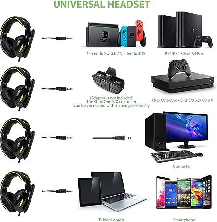 SADES 3,5 mm estéreo con cable de control de volumen Surround Gaming Headset auriculares con micrófono para G813 G813