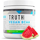 Truth Nutrition Fermented Vegan BCAA Powder - All Natural Amino Energy for Muscle Building, Recovery and Endurance (Watermelon, 30 Servings)
