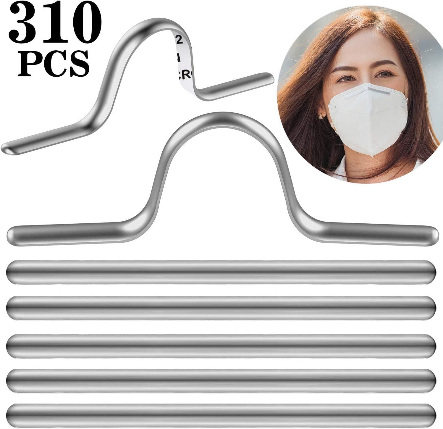 60 85 mm Metal Flat Aluminum Bar Strip Trimming One-Side Sticky for Bridge Band Clip of Nose DIY Crafts Making Accessories Flat Face Cover Aluminum Wire Face Cover Nose Bridge Strip