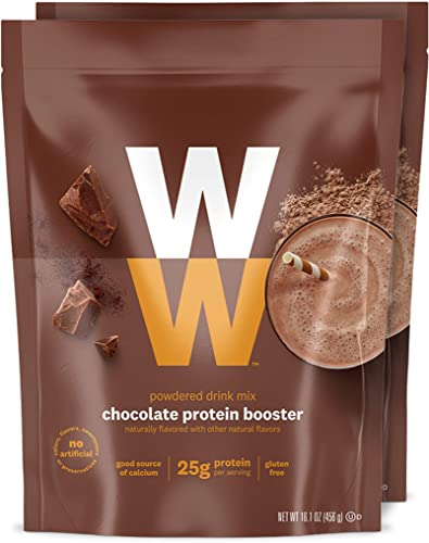 WW Chocolate Protein Booster – Whey Protein Powder, 2 SmartPoints – 2 Pouches – Weight Watchers Reimagined
