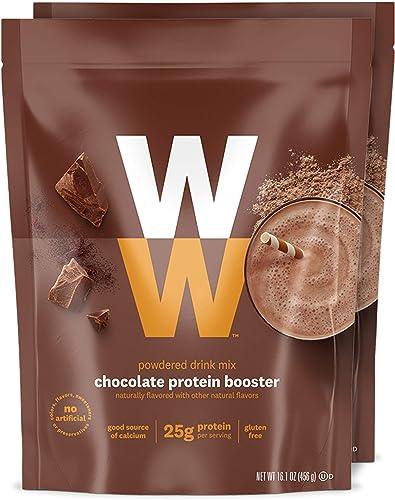 WW Chocolate Protein Booster – Whey Protein Powder, 2 SmartPoints – 2 Pouches – Weight Watchers Reimagined