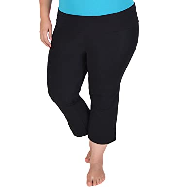 Stretch is Comfort Womens PLUS SIZE CAPRI Yoga Pants