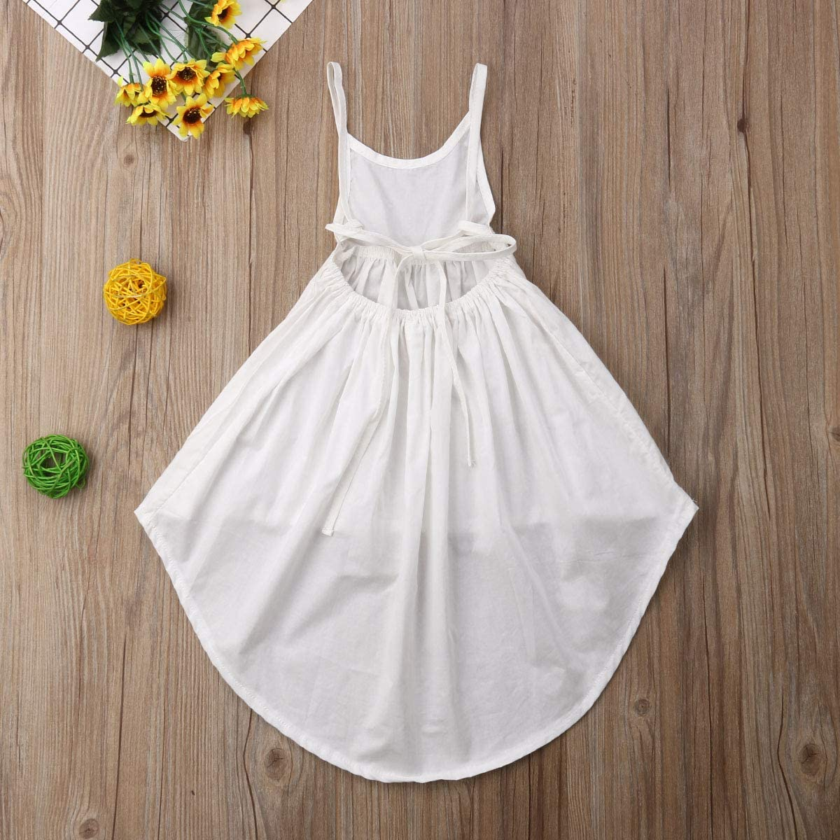 Hwaikun Baby Girl Midi Dress Toddler Sleeveless Long Skirt Kid Children Vest Dress for 1-6Years