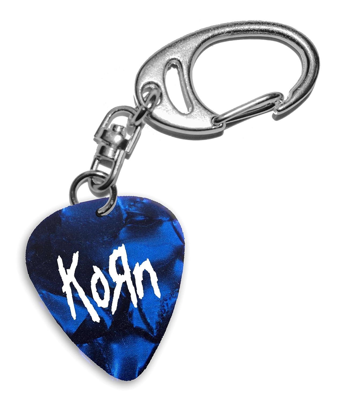 Korn Band Logo Blue Keyring Llavero de púa de guitarra (H ...