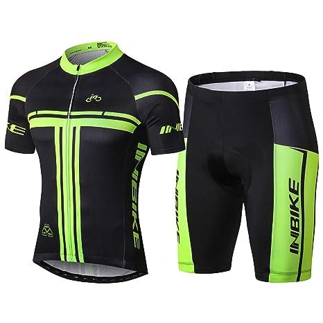45385a540527 Inbike Body Tuta Ciclismo Estivo Maglia Manica Corta e Pantalocini MTB  Corti Uomo(XXXL)