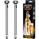 Fronnor Gifts for Men Beer Chiller Sticks for Bottles Cool Unique Gift for any Beer Lover Stainless Steel Beverage Cooler Coo