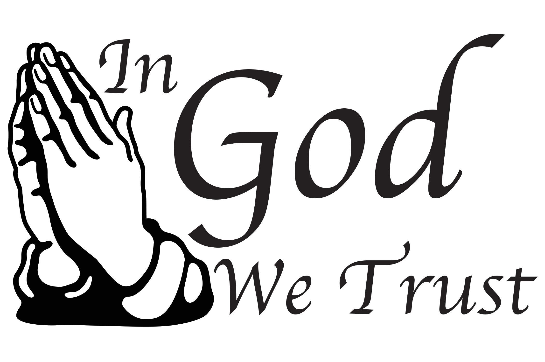 Frankies Cajun Customs in God We Trust Vinyl Decal, Wall, Car, Laptop - Burnt Orange - 50 inch