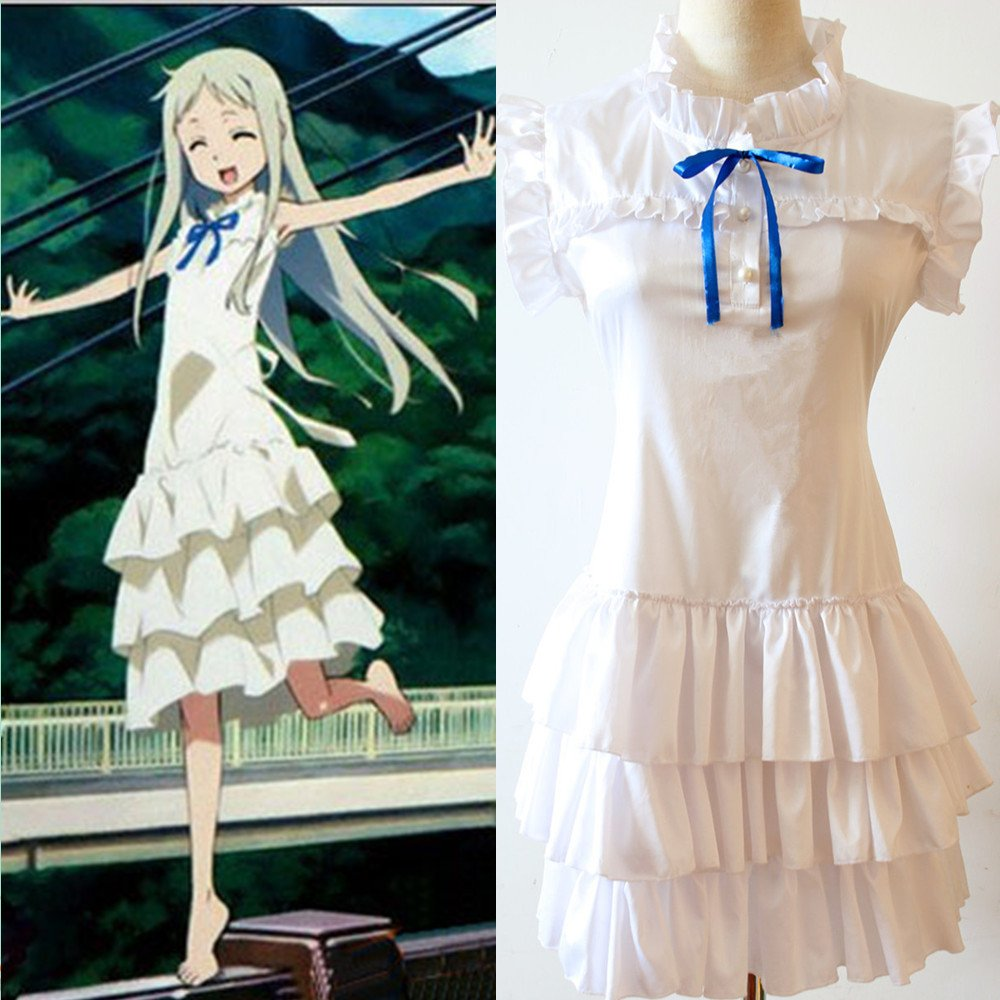 Anohana Meiko Hommesma Honma cosplay costume(nous envoyer votre taille), taille S  155-160 cm