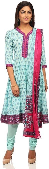 BIBA Women's Anarkali Salwar Suit Women's Salwar Suits at amazon