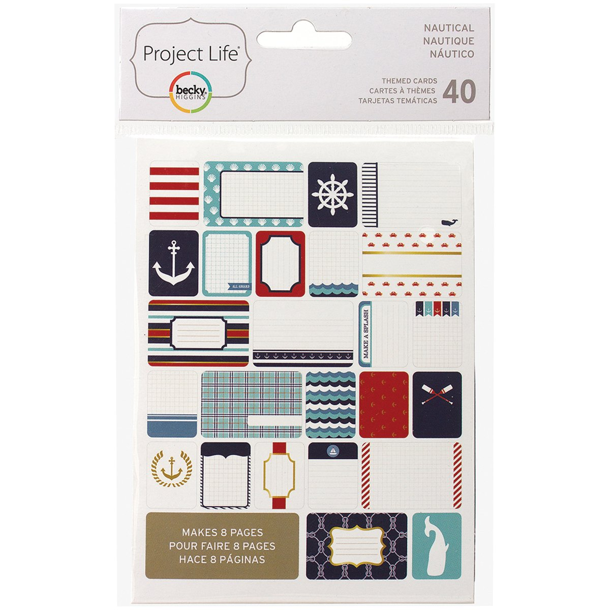 Project Life 718813977159 Themed Card Nautical