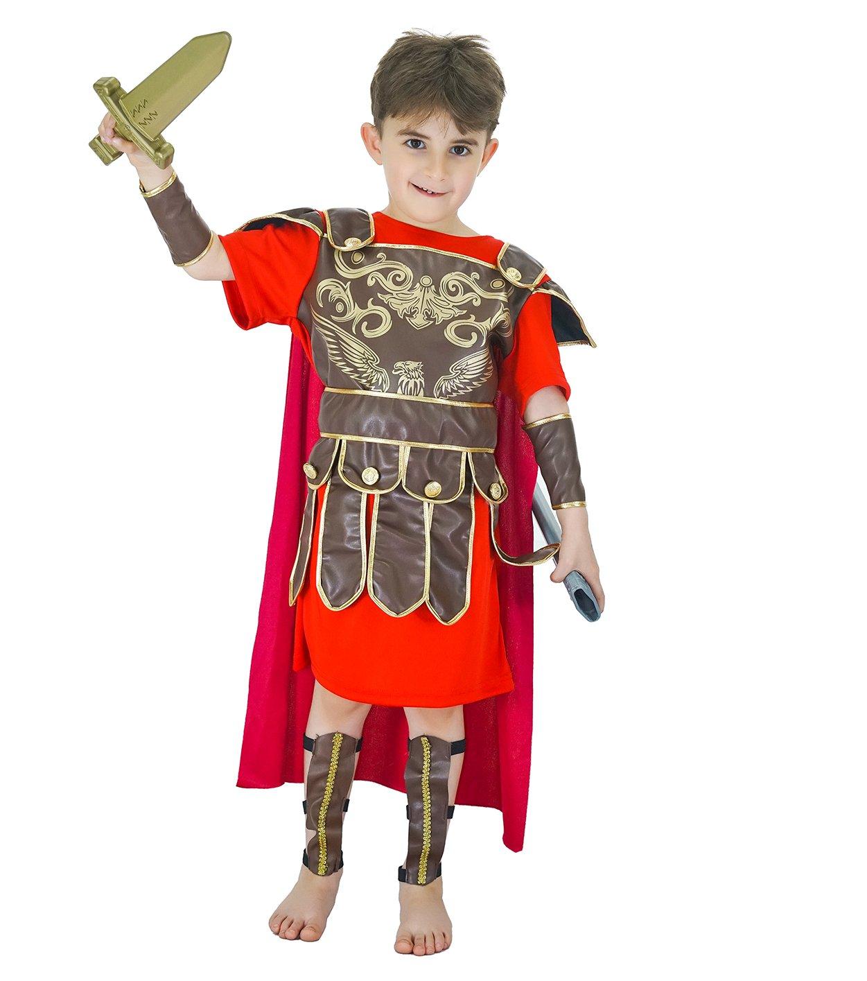 SEA HARE Disfraz de Disfraz de Guerrero Romano para niños (M ...