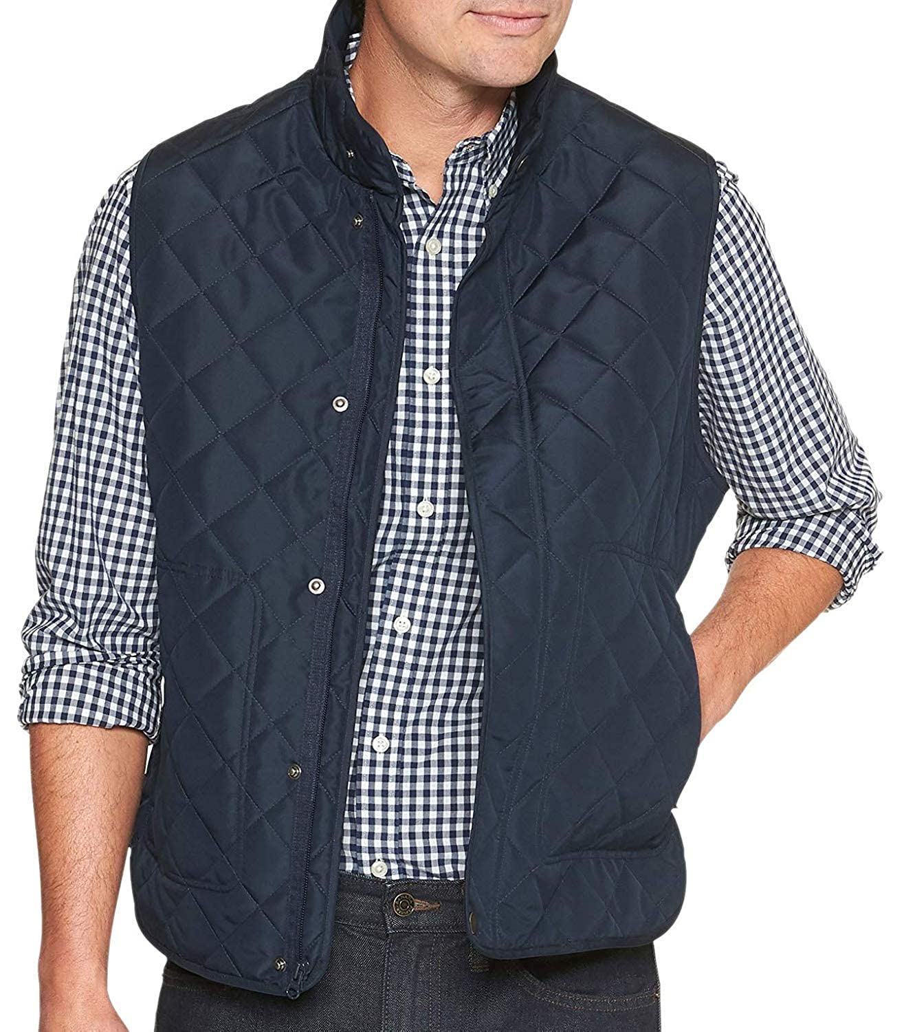 55f8335e5 Banana Republic Mens Water-Resistant Diamond Quilted Layering Vest ...