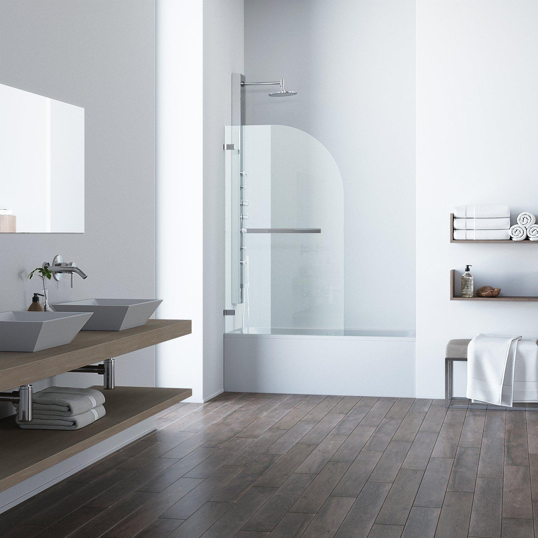 Amazon.com: VIGO Orion 34-in. Curved Bathtub Door with .3125-in ...