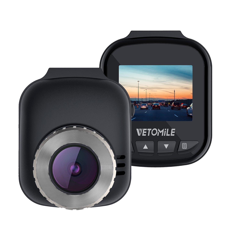 VETOMILE V2 2K Dash Cam Full HD 1440P Caméra Embarquée Voiture Appareil Photo Intégré 2,7'LCD, Vidéo DVR avec 170℃ Grand Angle, Enregistrement en Boucle/d'Urgence, WiFi,GPS 7LCD