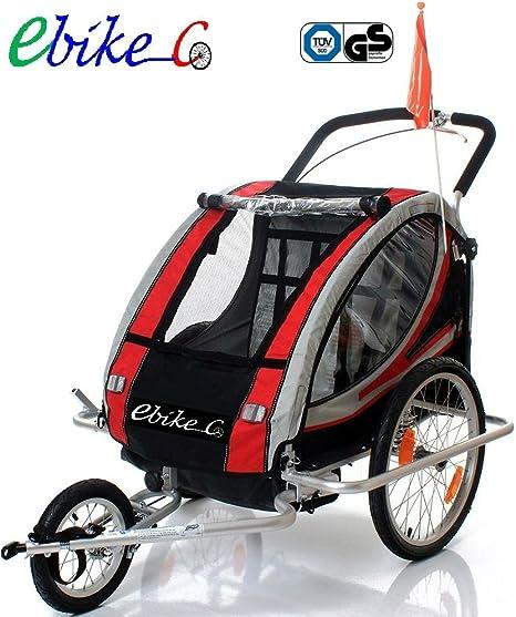 ebikeCo Remolque Bicicleta Aluminio, 7 Confort suspensión, Rueda ...