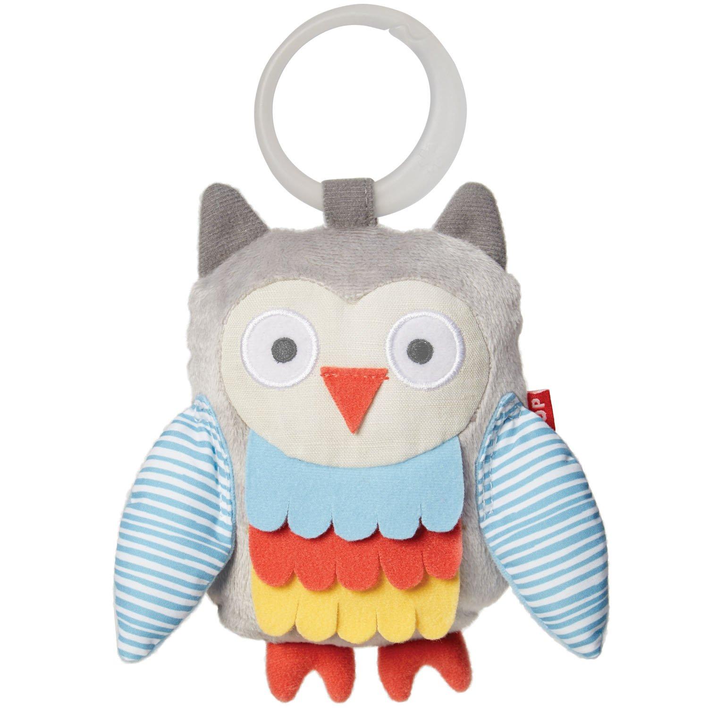 Skip Hop Treetop Friends Wise Owl Stroller Toy, Grey Pastel