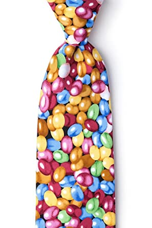 7c77acf57ef1 Image Unavailable. Image not available for. Color: Red Microfiber Tie | Jelly  Beans Necktie