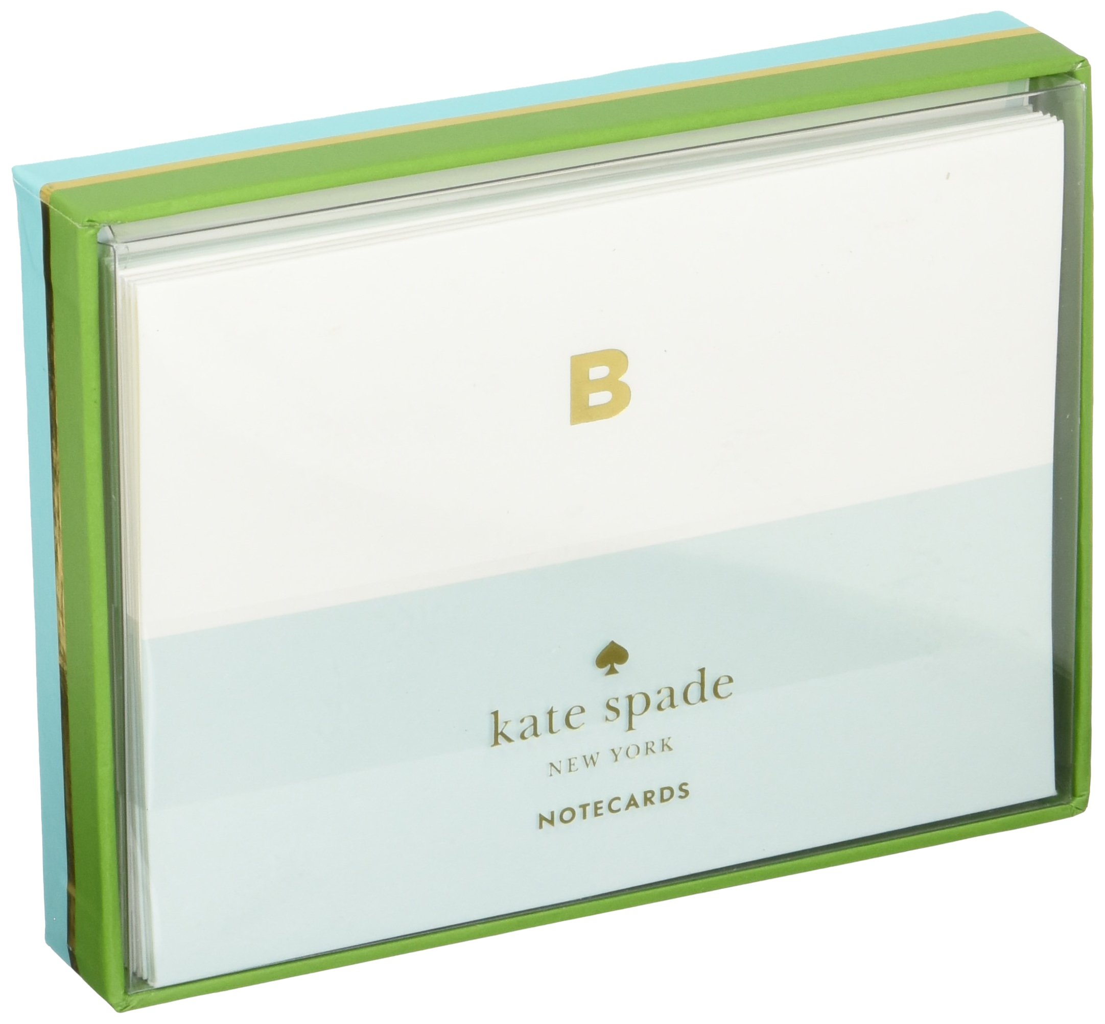 Kate Spade Dipped Initial Fold over Notes, B, Lite Blue (1740B) by Kate Spade New York