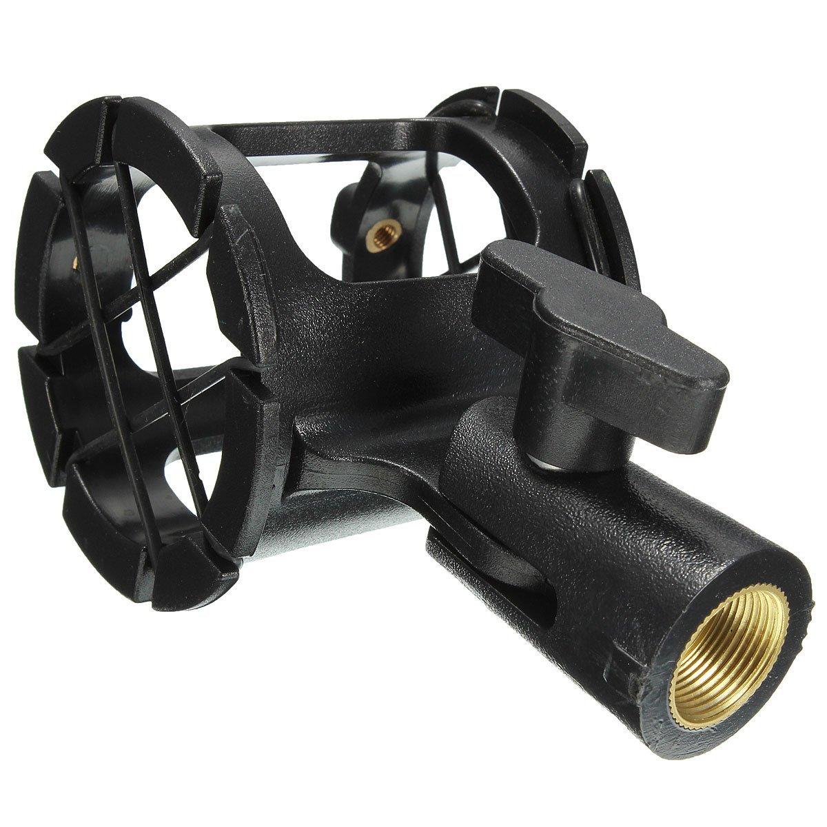 Microphone Shock mount - SODIAL(R) Shockmount Shock mount shotgun microphone suspension bracket for large diaphragm 044506