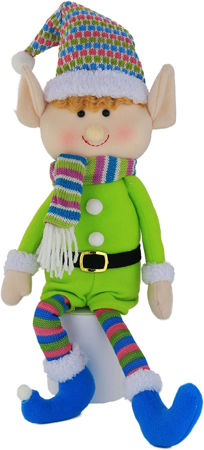 Wewill Elf Plush Christmas Stuffed Toys-Adorable 20 Inch Boy Elf Holiday Plush Characters for Decoration