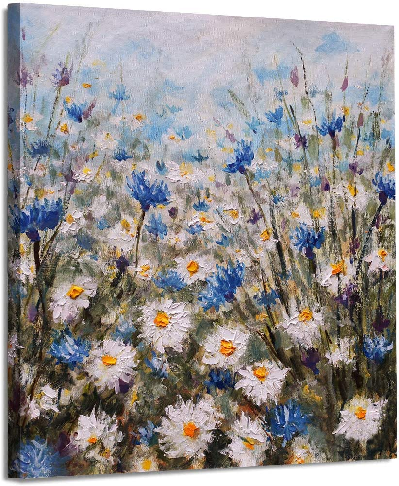 Summer Daisies Canvas Wall Art for Living Room Bedroom Decoration, Modern Canvas Artwork, Home Wall Decor Posters, 14