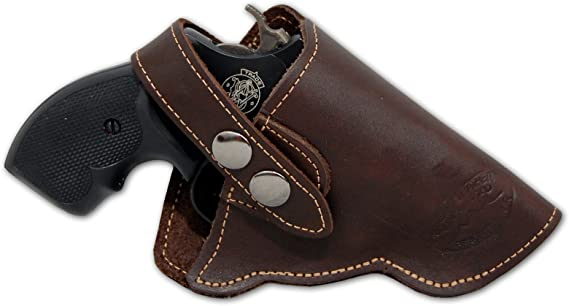 Barsony New Brown Leather OW Holster for Snub Nose 2