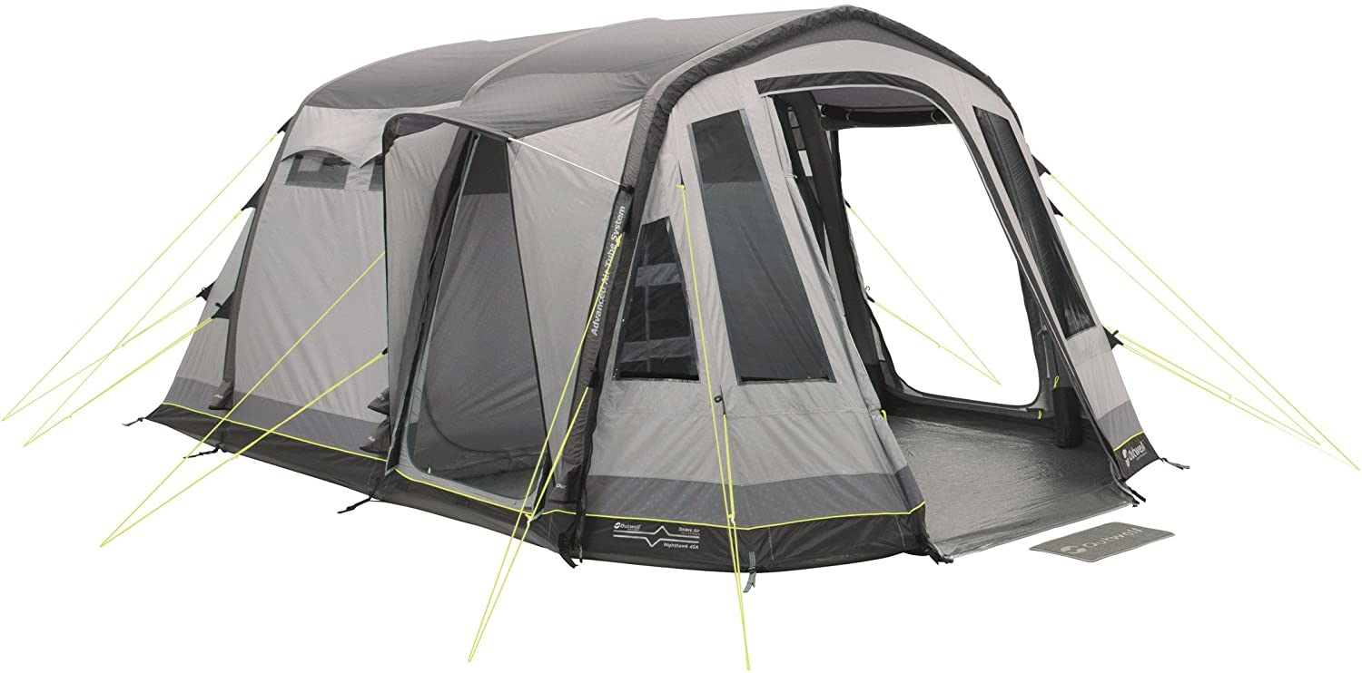 Outwell Nighthawk 4SA 4Person (S) grau Group Tent – Camping Zelt (4 Person (S), 4 Person (S), Hard Frame, 6 m, 10 m, Group Tent)