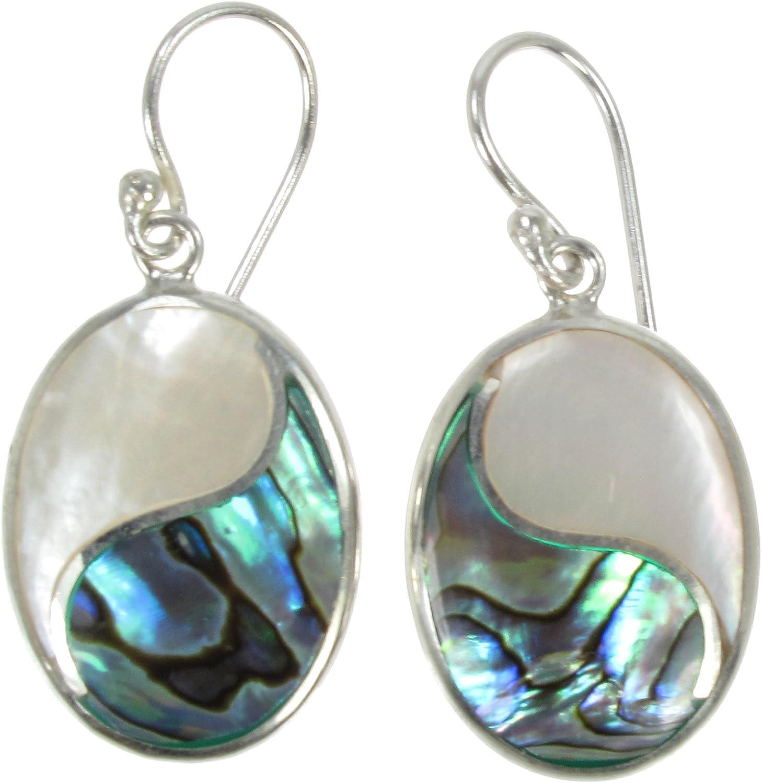 Gemstone Jewellery Gemstone 925 Sterling Silver Earrings Birthday Gift White Shell MOP Earrings Mother Of Pearl Star Hoop Earrings