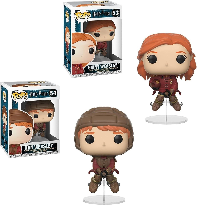 Funko POP! Harry Potter: Ginny Weasley (On Broom) + Ron ...