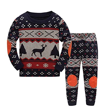 2-7T Baby Long Sleeves Toddler Kids Infant Boys Deer Print Cartoon  Tops+Pants - Amazon.com: Baby Long Sleeves Clothes Toddler Christmas Outfit Boy