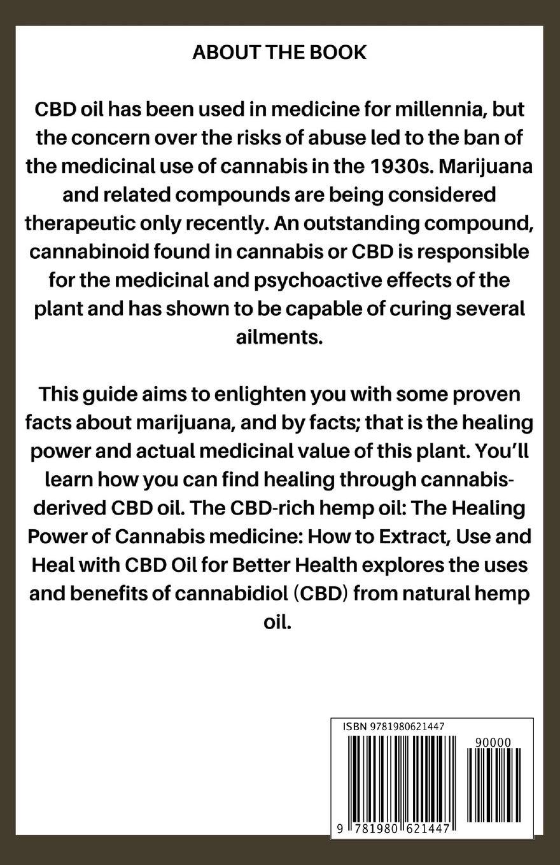 CBD-Rich Hemp Oil: The Healing Power of Cannabis medicine