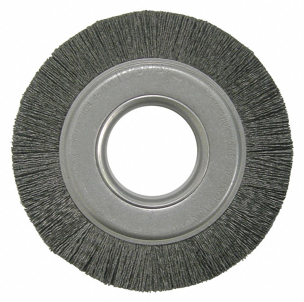 6'' Crimped Wire Wheel Brush, Arbor Hole Mounting, 0.026'' Wire Dia, 1'' Bristle Trim Length, 1 EA
